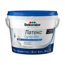 Латекс Dekorator супер бял 4л